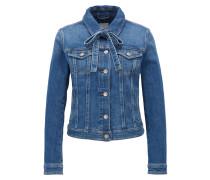 Strukturierte Jeansjacke mit Schleifen-Detail