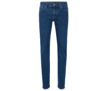 Slim-Fit Jeans aus umweltfreundlichem, meliertem Denim