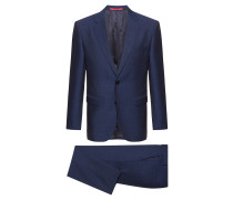 Regular-Fit Anzug aus gemusterter Schurwolle