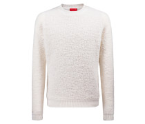 Oversized Bouclé-Pullover in Lammfell-Optik
