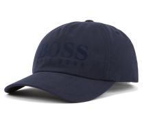 Cap aus Baumwoll-Twill mit Logo-Flockdruck