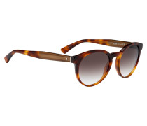 Braune Sonnenbrille im Panto-Stil