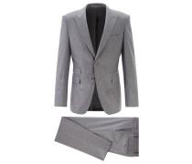 Extra Slim-Fit Anzug aus elastischem Schurwoll-Mix