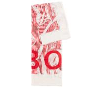 Abstrakt bedruckter Schal aus Baumwolle