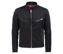 Slim-Fit Bikerjacke aus Stretch-Denim