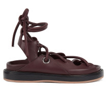 9047a500c7a4eb Flat leather sandals with contrast sole. HUGO BOSS