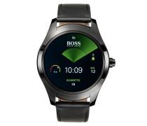 Touch Smartwatch aus ionenbeschichtetem Edelstahl