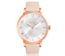 Armbanduhr aus poliertem Edelstahl