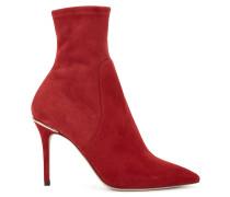 Ankle Boots im Socken-Stil aus italienischem Stretch-Veloursleder