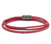 Geflochtenes Wickelarmband aus italienischem Leder