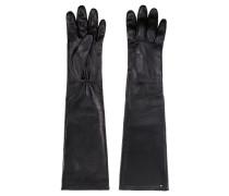 Lange Handschuhe aus Nappaleder mit Logo-Nieten