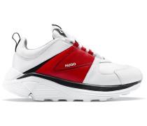 Sneakers aus Leder, Stoff und Mesh