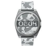 Unisex-Uhr mit Camouflage-Print und Reversed-Logo