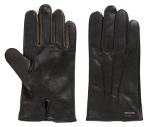 Nappa-leather gloves with colour contrast
