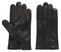 Handschuhe aus Nappaleder mit Kontrast-Details