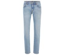Regular-Fit Jeans aus Used-Denim