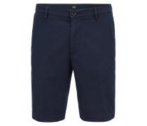 Regular-Fit Shorts aus strukturierter Stretch-Baumwolle