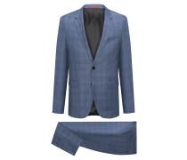 Extra Slim-Fit Anzug aus karierter Schurwolle