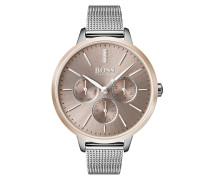 Multieye-Uhr aus Edelstahl