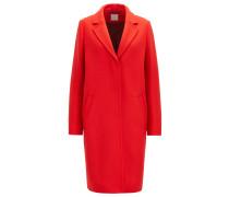 Regular-Fit Mantel aus schwerem Woll-Mix