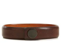 Armband aus genarbtem Leder mit Druckknopf