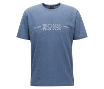 Pyjama-Shirt aus elastischer Baumwolle mit Logo