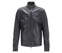 Regular-Fit Lederjacke im Blouson-Stil