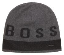 Mütze aus Baumwoll-Mix mit Kontrast-Logo