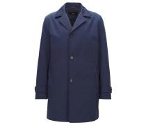 Slim-Fit Mantel aus wasserabweisendem Twill