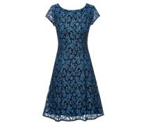 A-Linien-Kleid aus Blumenspitze mit U-Ausschnitt