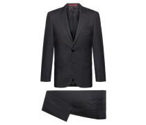 Fein gemusterter Slim-Fit Anzug aus Schurwoll-Mix