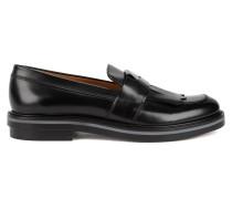 Loafer aus Lackleder mit Fransen
