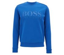 Pullover aus Baumwoll-Mix mit zweifarbigem Logo