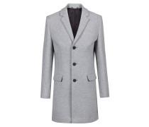 Melierter Slim-Fit Mantel