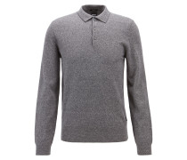 Gestrickter Pullover aus Baumwoll-Mix mit Leinen