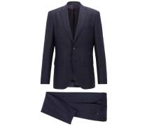 Karierter Regular-Fit Anzug aus Schurwoll-Serge