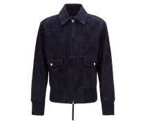 Fashion Show Harrington-Jacke aus weichem Veloursleder