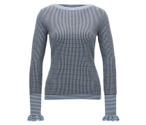 Regular-Fit Pullover aus elastischem Material-Mix