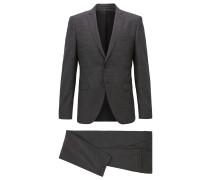 Fein gemusterter Extra Slim-Fit Anzug aus Schurwolle