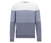 Colour-Block-Pullover aus Baumwolle