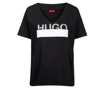 T-Shirt aus Baumwolle mit glitzerndem Logo-Print