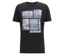 T-Shirt aus Pima-Baumwolle mit Foto-Print