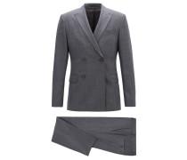 Slim-Fit Anzug mit zweireihigem Sakko