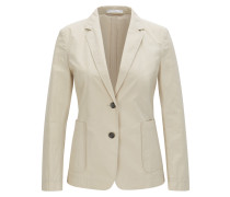 Regular-Fit Blazer aus Baumwoll-Mix