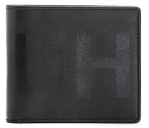 Klapp-Geldbörse aus Leder