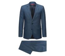 Dezent gemusterter Slim-Fit Anzug aus Schurwolle