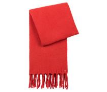 Schal aus Woll-Mix mit breiten Fransen