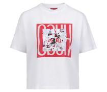 T-Shirt aus Baumwolle mit Statement-Print