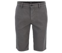 Slim-Fit Chino-Shorts aus strukturierter Stretch-Baumwolle