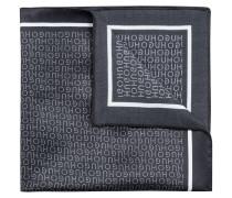 Einstecktuch aus Seide mit Logo-Print